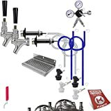 Kegco BF DHCK2 Deluxe Two Faucet Homebrew Kegerator Conversion Kit, Stainless Steel