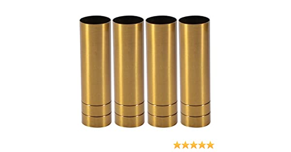25mmx90mm Brass Tone Metal Candle Cover Sleeves Chandelier Socket Covers