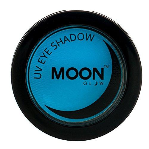 (Moon Glow - Blacklight Neon Eye Shadow 0.12oz Blue – Glows brightly under Blacklights / UV Lighting!)