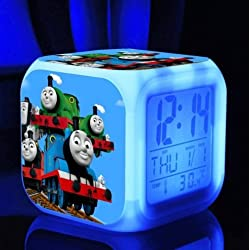 The Thomas Train and His Lovely Friends Digital Alarm Desktop Clock with 7 Changing LED Clock for Kids (Style 6)