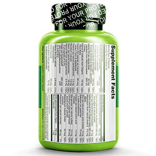 NATURELO Prenatal Whole Food Multivitamin - with Natural Iron, Folate and Calcium - Vegan & Vegetarian - Non-GMO - Gluten Free - 180 Capsules | 2 Month Supply by NATURELO (Image #2)