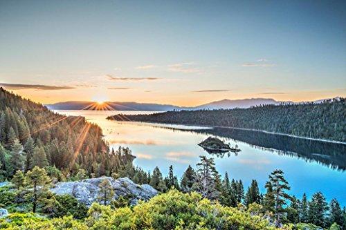 Lake Tahoe Emerald Bay Sunrise Photo Art Print Poster 24x36