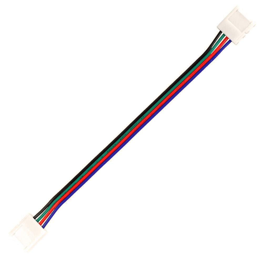 Gimax 100PCS/lots 4 Pin 10mm RGB Double Head Free Welding Connector For 5050 RGB LED Strip Light Led Tape Extension Wire Terminals