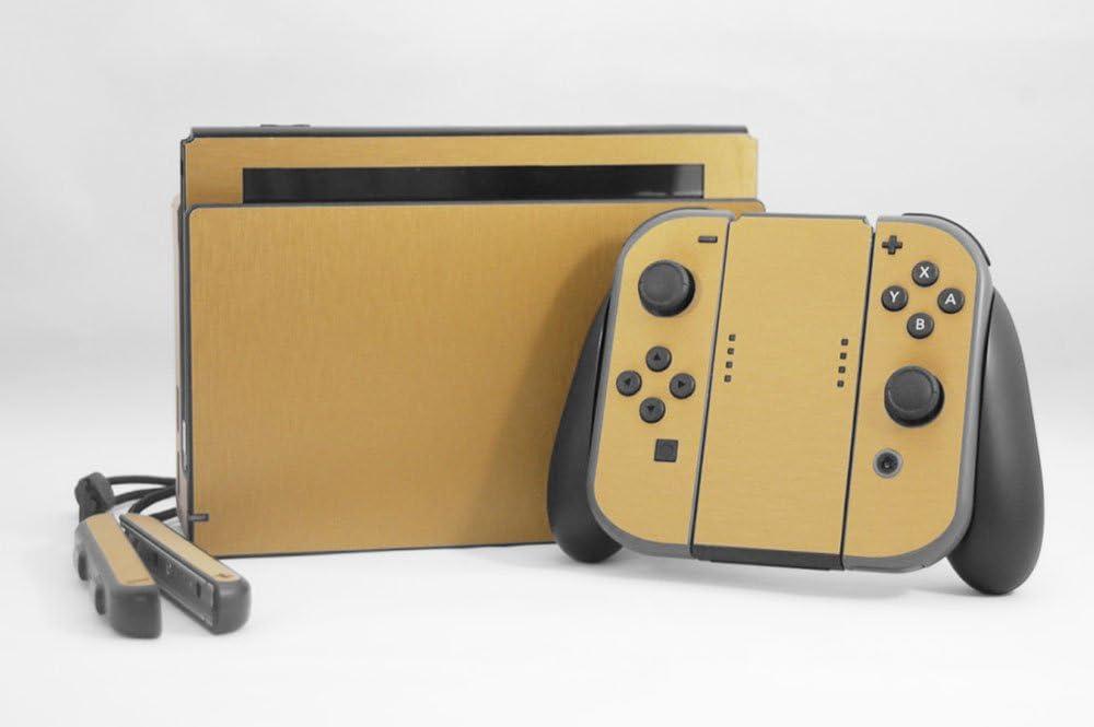 Amazon com: Nintendo Switch Skin - NEW - BRUSHED GOLD METAL