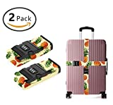 OKAYDECOR Long Cross Luggage Straps Suitcase Belts Pineapple