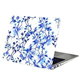 Macbook Air 13 Inch Case,YMIX Hard PC Protective Case Smooth Rubberized Cover for (Model A1466 & A1369) Apple MacBook Air 13.3 Inch (Indigo Flower)