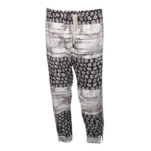Michael Stars Womens Charlotte Print Drawstring Pants Brown/White Large