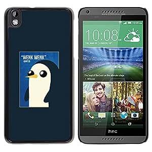 Pingüino lindo de la acuarela de los rosas bebés- Metal de aluminio y de plástico duro Caja del teléfono - Negro - HTC DESIRE 816