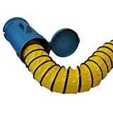 XPOWER 25' Ducting Hose with Carrier - 8'' Diameter for Confined Space Fan