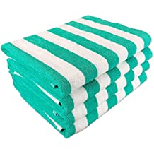 "California Cabana Striped Oversized Beach Towel | Set of Four Extra Large 30"" x 70"" 