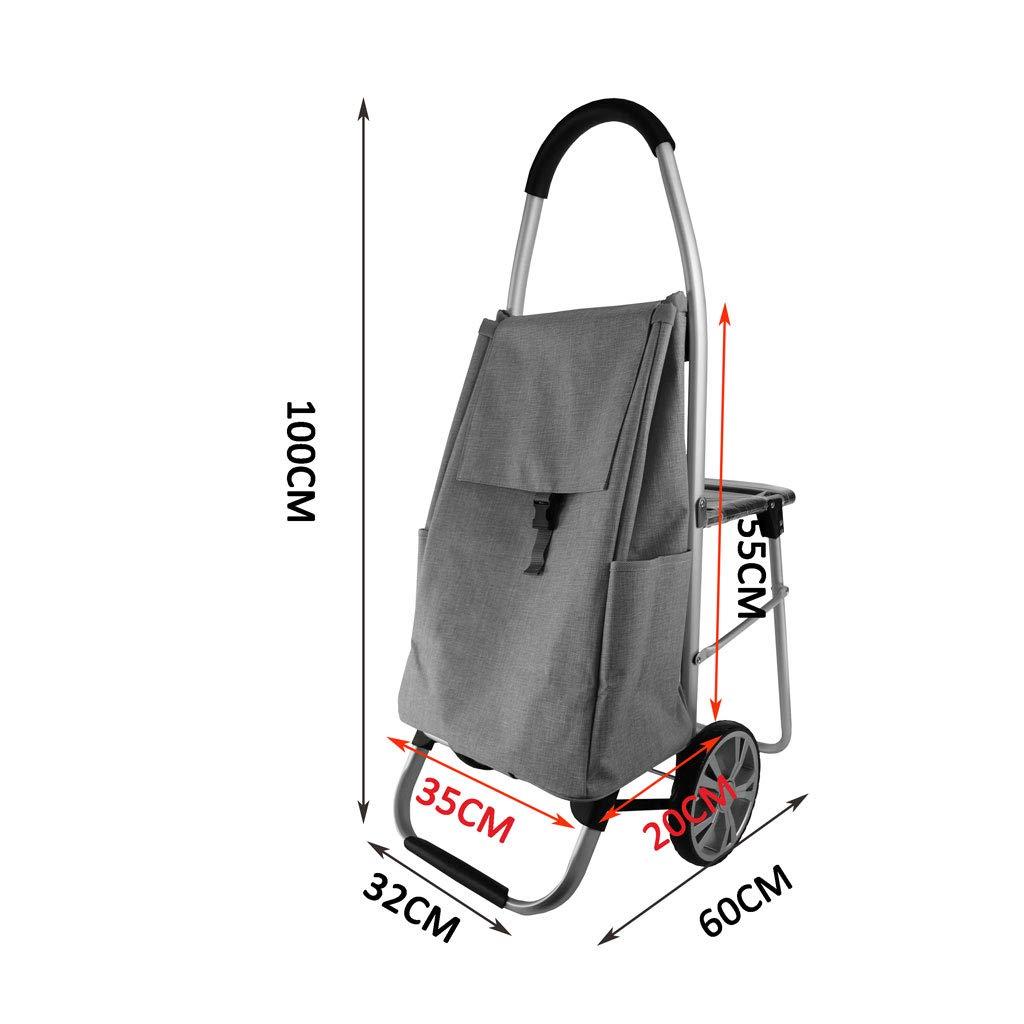 026e374f6a36 Amazon.com: Tengxiang Shopping cart Grocery Folding Shopping Cart ...