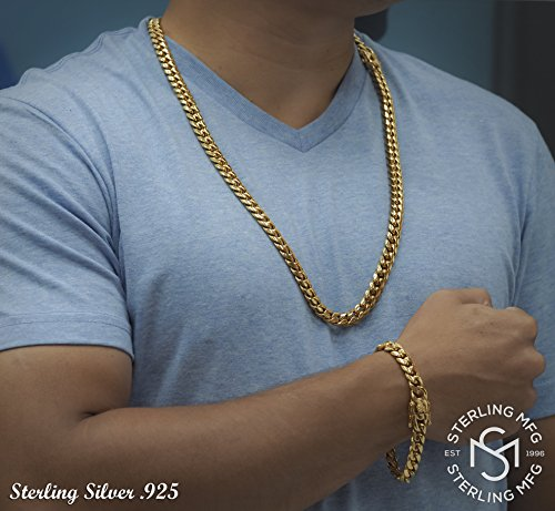 28 12MM 20 Premium 18KT Real Gold Electroplated Stainless Steel Solid Miami Cuban Link Chain In Widths 6MM 9 26 24 22 14MM 10MM 18MM and in Lengths 8 Secure Box Lock 18 30 8MM