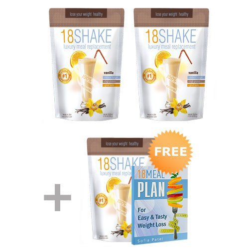 18 Shake Vanilla - 3pck - Top Rated Protein Formula - Gluten Free - No Hormones - No Artificial Sweeteners - 100% Healthy Weight Loss