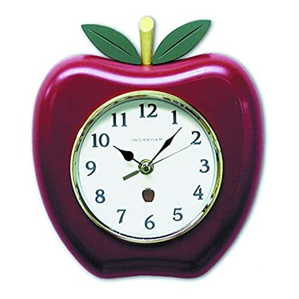amazon com salton ingraham big bushel apple wall clock home kitchen rh amazon com