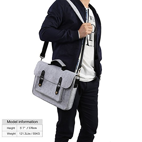 Koolertron 13 - 13,3 pulgadas Bolso Funda de Bandolera de Fieltro Negocios Casual Bolso de la cartera para la mayoría de 13,3 pulgadas Apple MacBook Air, MacBook Pro Retina, Ultrabook, Chromebook y iP