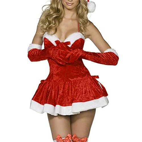 Sweetheart Candy Costume (Sexy Holiday Christmas Dress Miss Santa Costume)