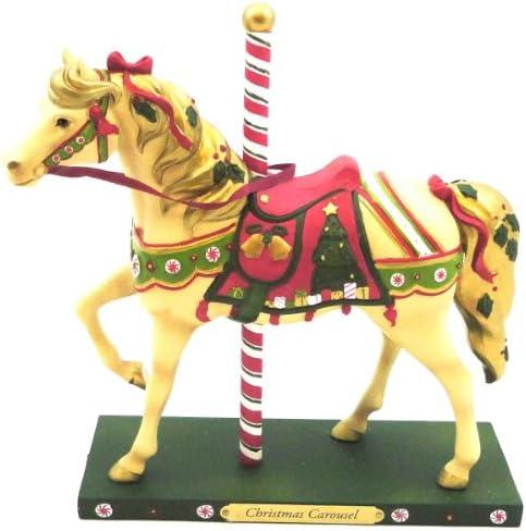 Enesco Trail of Painted Ponies Christmas Carousel Figurine, 7-1 2-Inch