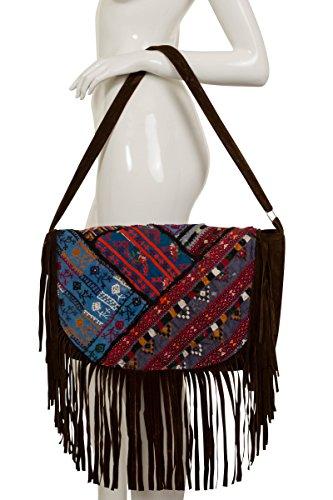 ThaiUK - Bolso mochila para mujer marrón marrón marrón
