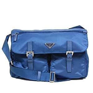 b5c12a6ae71 Prada Large Blue Tessuto Pattina Nylon Leather Cross Body Messenger Bag  BT1738  Amazon.ca  Sports   Outdoors