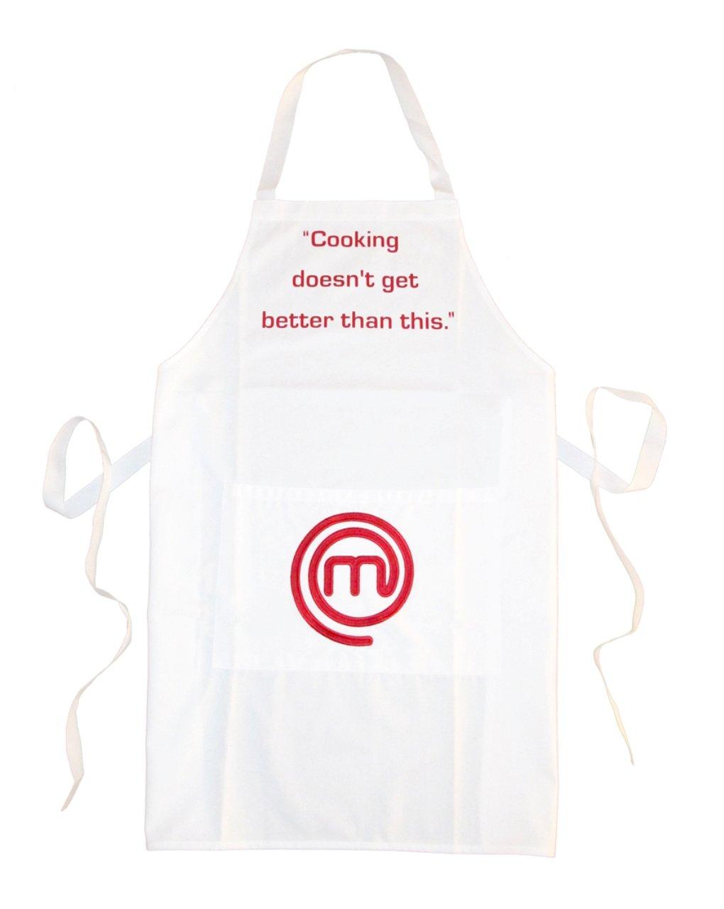 Masterchef apron (white) official merchandise - Masterchef Official Merchandise Apron With Pocket White Amazon Co Uk Kitchen Home