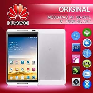 "ARBUYSHOP original Huawei MediaPad Tablet Teléfono llamar M1 S8-303L 4G LTE 8 ""1280 x800 IPS Kirin 910 1.6GHz 1GB + 16GB Android 4.2 5MP, el paquete B"