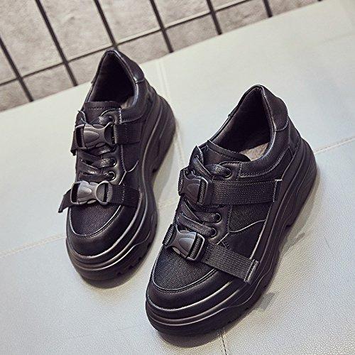 noir Thirty-eight GUNAINDMX  chaussures Spbague nouveau All-Match Thick chaussures blanc chaussures