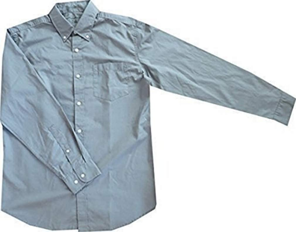 Camisa Camisa de popelín Hombre de Eddie Bauer - algodón, gris, 100% algodón. 100% algodón, hombre, M: Amazon.es: Ropa y accesorios