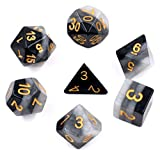 Polyhedral Dice Sets Dungeons and Dragons Gaming Dice for DND RPG MTG Table Games Dice (Grey Gradients)