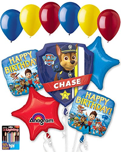 - 11 pc Paw Patrol Balloon Bouquet Party Decoration Happy Birthday Nick Jr. Chase