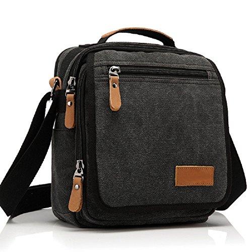 Canvas Messenger Bag Classic Shoulder Bag casual Multifunctional Crossbody Travel Purse - Messenger Mens