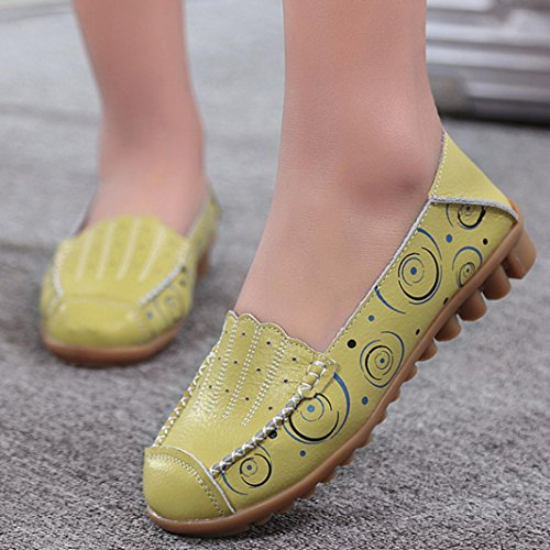 Ptint Bottom Shoes TM Wild Casual Boat Peas Soft Flat DEESEE Breathable Leisure Green Women A4wqtB