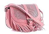 Roberto Cavalli Pink Leather Star Fringe Shoulder Bag~RTL$1195