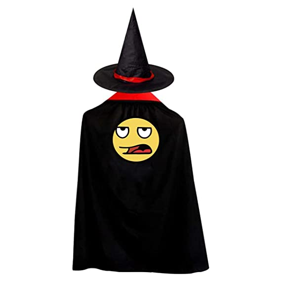 Amazon.com  Sick Face Emoji Costumes Cape Cosplay Party Cloak With Hat For  Kids Adults  Clothing 5fdd4828df7