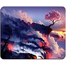 Cherry Tree Volcano Nature Unique Mousepad,Gaming Mouse Pad (9x7 Inches) - Image001