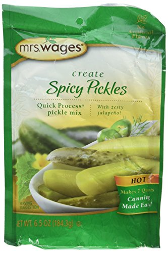 Mrs. Wages Hot Spicy Pickle Canning Mix-One 6.5 Ounce Package