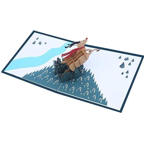 Leisial Tarjeta De Navidad Felicitación 3d Para Decoracion