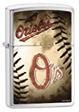 Zippo MLB Baltimore Orioles Brushed Chrome Lighter