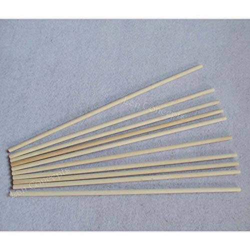 Moonnight Store 305x6mm Wood Natural Color Round Lollipop Popsicle Sticks Ice Cream Tools Kids DIY crafts - 100pcs/lot