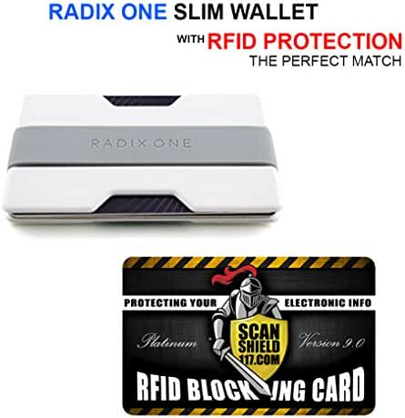 Radix Wallet (White) + RFID Card by Scan Shield 117
