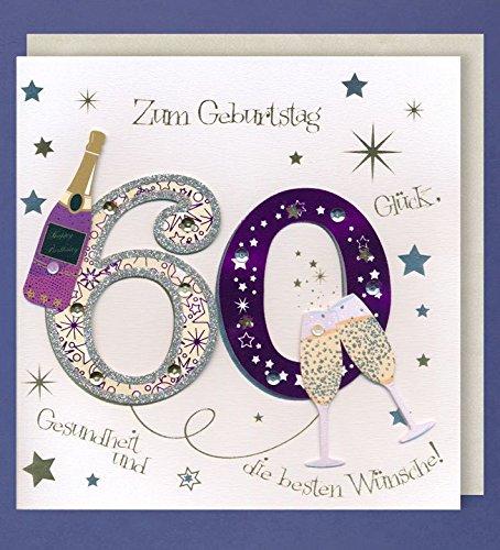 Tarjeta de felicitación 60 cumpleaños Handmade accesorios ...