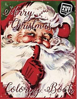 merry christmas coloring book a nostalgic trip with old saint nick artimorean vintage coloring