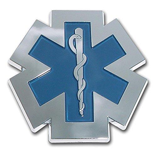 Emergency Medical Services Star of Life Chrome Plated EMS EMT Paramedic Emblem Car Truck Motorcycle Logo