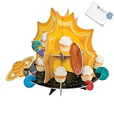 Bargain World Space Party Rocket Cupcake Stand (With Sticky Notes)
