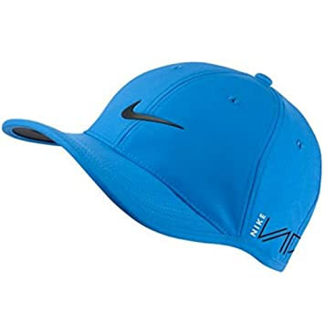 NIKE RZN Vapor Ultralight Golf Cap Pro Tour Adjustable Hat (Sky Photo Blue  with Iconic Black Swoosh) 8401cb60e20