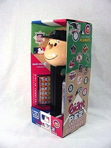 Charlie Brown Giant Pez Dispenser. - Tampa Bay Devil Rays. (Musical Pez Candy Roll Dispenser)