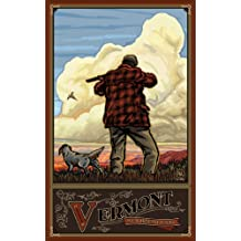 Northwest Art Mall Vermont Pheasant Hunting Unframed Poster Print by Paul A. Lanquist, 11-Inch by 17-Inch