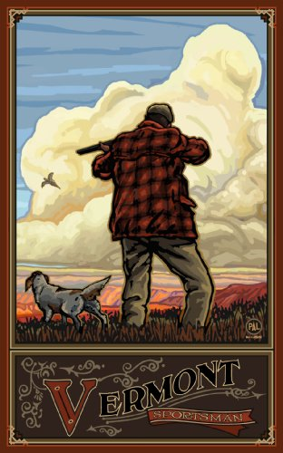 Northwest Art Mall Vermont Pheasant Hunting Unframed Poster Print by Paul A. Lanquist, 11-Inch by - Pheasant Mall