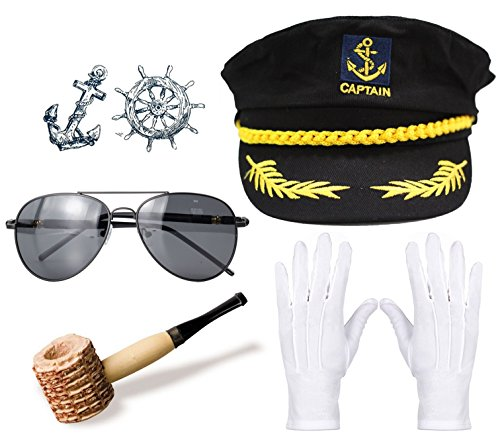 Xianhan Apparel Packet of 5 Yacht Captain &