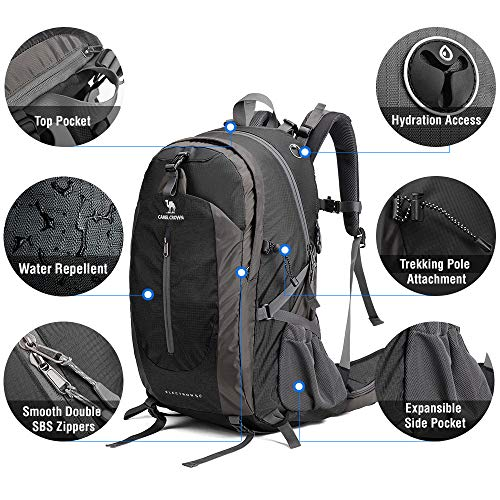 2b9bb050ded Great comfy travel backpack for men and women, perfect for hiking, traveling,  camping, trekking, cycling, backpacking and mountaineering.
