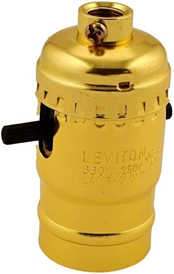 Leviton  Aluminum  Medium Base  Lampholder  1 pk